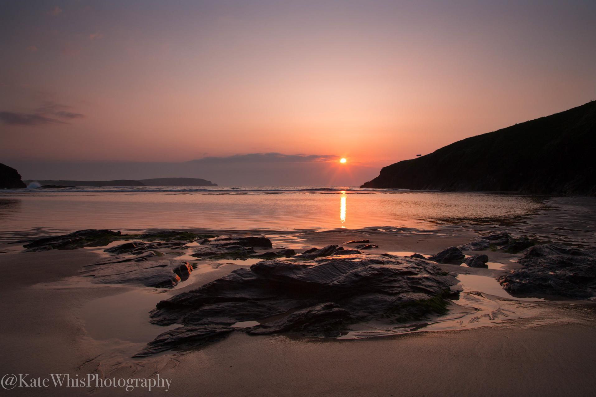Sunset at Trevone, Cornwall