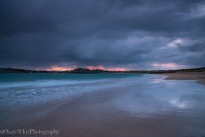 Moody sunrise at Tregirls