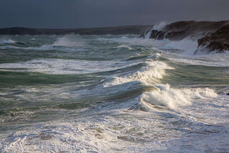 Waves breaking on the Cornwall Coast