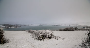 Camel Estuary and Padstow in the snow