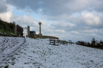 Stile field in the snow