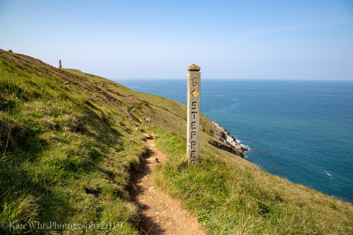 The way marker at Stepper Point