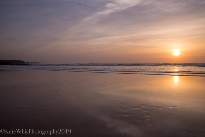 Mirroe sunset at Constantine Bay