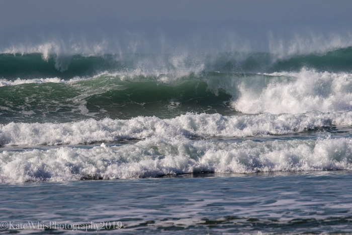 Wall of waves at Constantine Bay