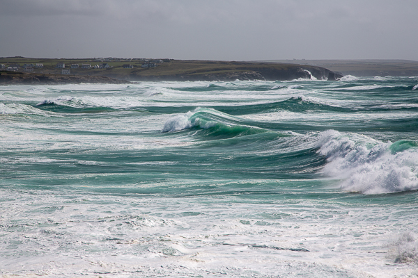 Wave rolling into Booby's Bay